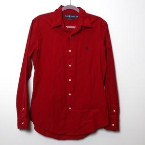 Ralph Lauren | Soft Red Custom Fit Shirt M